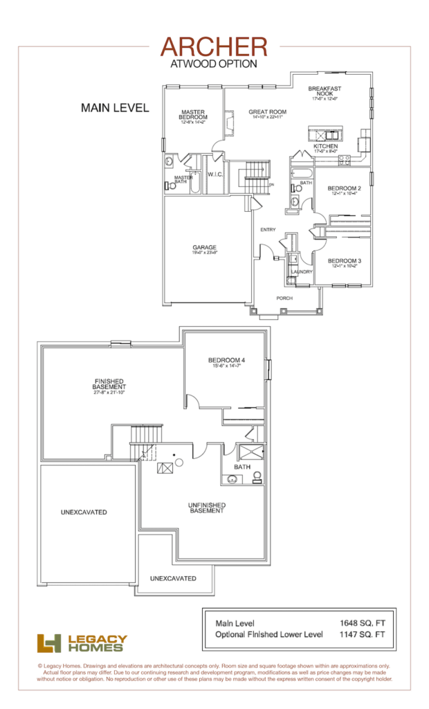 Archer floor plan, Atwood.